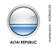 round flag of altai republic | Shutterstock . vector #342864134