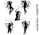 five beautiful little fairy | Shutterstock .eps vector #34286779