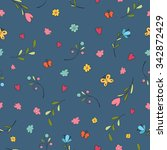 childish seamless pattern with... | Shutterstock .eps vector #342872429