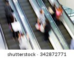 motion blurred people in... | Shutterstock . vector #342872771