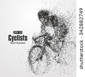 cyclists  particle divergent... | Shutterstock .eps vector #342882749
