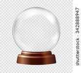 empty snow globe. big white...   Shutterstock .eps vector #342888947