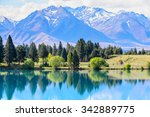 lake ohau  new zealand | Shutterstock . vector #342889775