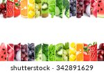 fresh fruits and vegetables.... | Shutterstock . vector #342891629