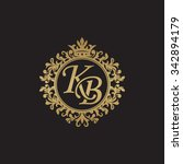 kb initial luxury ornament... | Shutterstock .eps vector #342894179