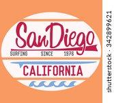 california san diego typography ... | Shutterstock . vector #342899621
