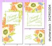 vintage delicate invitation... | Shutterstock .eps vector #342901004