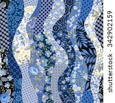 seamless patchwork pattern with ... | Shutterstock .eps vector #342902159