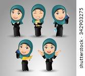 people set   arab businesspeople | Shutterstock .eps vector #342903275