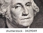george washington close up from ... | Shutterstock . vector #3429049