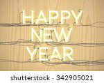 'happy new year'' sign made by... | Shutterstock .eps vector #342905021