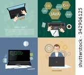 programmers concept software... | Shutterstock .eps vector #342906125