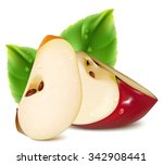 red apples slices with green... | Shutterstock .eps vector #342908441