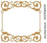 premium gold vintage baroque...   Shutterstock .eps vector #342908459
