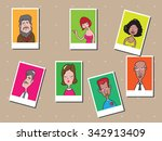 people men and women cartoon... | Shutterstock .eps vector #342913409