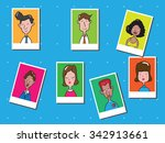 people men and women group... | Shutterstock .eps vector #342913661