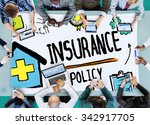 insurance policy help legal... | Shutterstock . vector #342917705