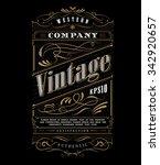 vintage typography western... | Shutterstock .eps vector #342920657