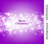 merry christmas and happy new... | Shutterstock .eps vector #342924521