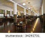 colonial bank interior   | Shutterstock . vector #34292731
