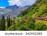 skagway  alaska. the scenic... | Shutterstock . vector #342932285