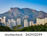 residential next to lion rock ... | Shutterstock . vector #342933299