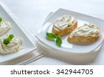 sandwiches with cream cheese | Shutterstock . vector #342944705