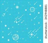 seamless vector space pattern.... | Shutterstock .eps vector #342948881
