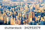 tilt shift effect. abstract... | Shutterstock . vector #342953579