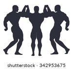 team athletes. to hold hands.... | Shutterstock .eps vector #342953675