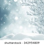 winter christmas background | Shutterstock . vector #342954809