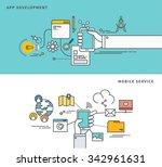 simple line flat design of app...