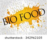 bio food word cloud concept | Shutterstock .eps vector #342962105