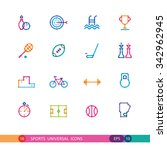 set of color sports universal... | Shutterstock .eps vector #342962945