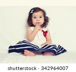Baby Girl Portrait  Sit On...
