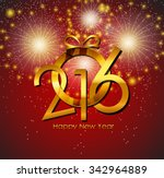 2016 new year background.... | Shutterstock .eps vector #342964889