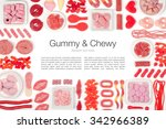 red jelly candies on white... | Shutterstock . vector #342966389
