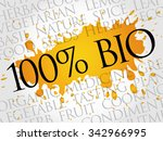 100  bio word cloud concept | Shutterstock .eps vector #342966995