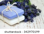 bunch of lavender flowers and... | Shutterstock . vector #342970199