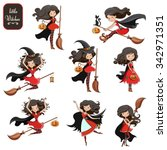big vector set of cute little... | Shutterstock .eps vector #342971351