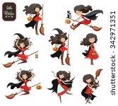 big vector set of cute little...   Shutterstock .eps vector #342971351