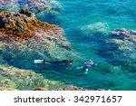 snorkeling  cap de peyrefite ... | Shutterstock . vector #342971657