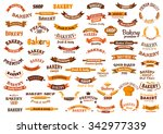 bakery and pastry design... | Shutterstock .eps vector #342977339