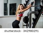 young sexy woman in the fitness ... | Shutterstock . vector #342980291