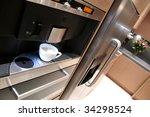 interior of modern kitchen... | Shutterstock . vector #34298524