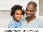 father and daughter in the... | Shutterstock . vector #342990065