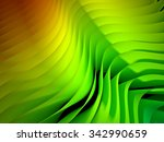 3d image of waved abstract... | Shutterstock . vector #342990659