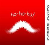 santa's mustache vector... | Shutterstock .eps vector #342995909