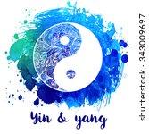 yin and yang decorative symbol. ... | Shutterstock .eps vector #343009697