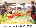 Farmers' Food Market Stall Wit...